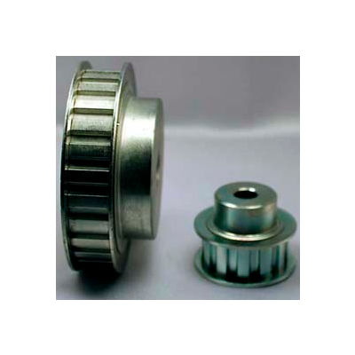 """16 Tooth Timing Pulley, (L) 3/8"""" Pitch, Clear Zinc Plated Steel, 16l050-6fs6 - Min Qty 4"""