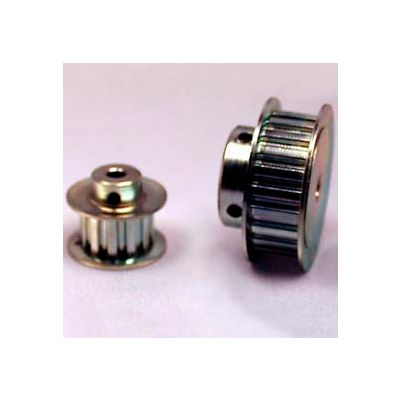 """20 Tooth Timing Pulley, (Xl) 1/5"""" Pitch, Clear Zinc Plated Steel, 20xl037-6fs6 - Min Qty 8"""