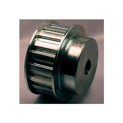 "22 Tooth Timing Pulley, (H) 1/2"" Pitch, Clear Zinc Plated Steel, 22h100-6fs8 - Min Qty 2"