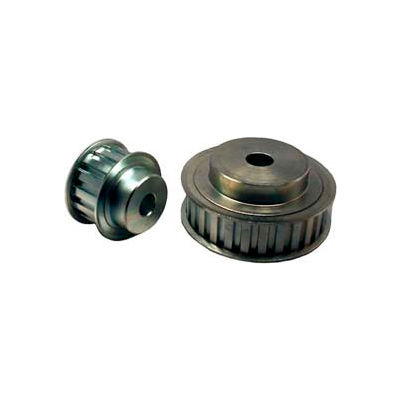 """26 Tooth Timing Pulley, (L) 3/8"""" Pitch, Clear Zinc Plated Steel, 26l075-6fs7 - Min Qty 3"""