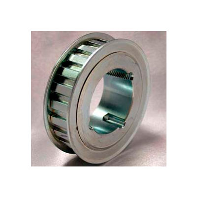 """32 Tooth Timing Pulley, (H) 1/2"""" Pitch, Clear Zinc Plated Steel, TL32H100"""