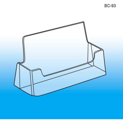 Business Card Holder, Crystal Clear Styrene - Pkg Qty 100