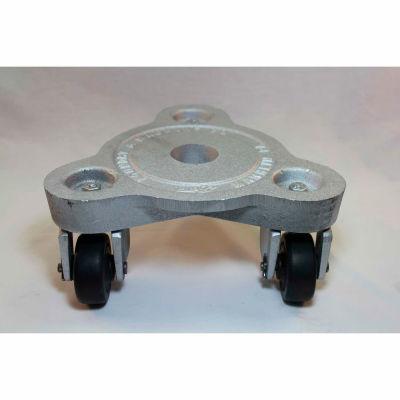 Bond® Cast Iron Triangular Dolly 2076 - Hard Tread Rubber Wheels - 525 Lb. Capacity