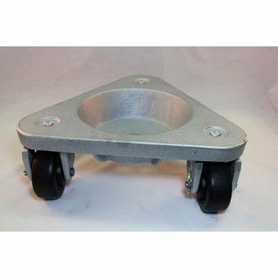 Bond® Cast Iron Triangular Cup Dolly 3310 - Hard Tread Rubber Wheels - 630 Lb. Capacity