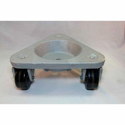Bond® Cast Iron Triangular Cup Dolly 3310 - Phenolic Wheels - 750 Lb. Capacity