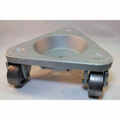 Bond® Cast Iron Triangular Cup Dolly 3310 - Semi-Steel Wheels - 750 Lb. Capacity