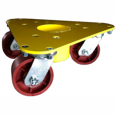 Bond® Extreme Weight Steel Triangular Cup Dolly 5500 - Ductile Iron Wheels - 3500 Lb. Cap.