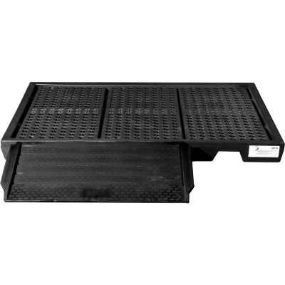 ENPAC® Black Diamond Poly Ramp 5111-BD - For Low Profile Spillpallets - 500 Lb. Cap.
