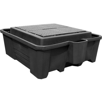 ENPAC® Black Diamond IBC Containment Pallet 5469-BD-D with Drain - 3000 Lb. Cap.