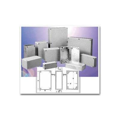 "Bud AN-1310-A Nema 4,4X,6,6P,12,13 & IP68 Die Cast Alum Enclosure 6.25"" L X 6.25"" W X 4"" H Natural"