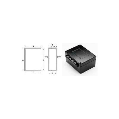 """Bud An-2900 Nema 4x Box With Hinged Cover 3.95"""" L X 3.04"""" W X 1.98"""" H - Min Qty 3"""