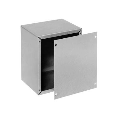 "Bud Au-1083 Aluminum Alloy Utility Cabinet 4"" W X 2"" D X 4"" H Natural - Min Qty 8"