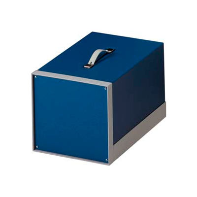 "Bud BB-1807-RB Showcase Small Cabinet Royal Blue Texture 15""W x 8.31""D x 9.93"" H"