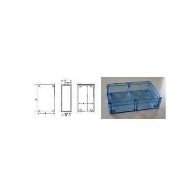"""Bud Bt-2740 Blue Transparent Nema 4x Box 9.45"""" L X 6.30"""" W X 3.54"""" H - Min Qty 3"""