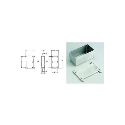 "Bud Cu-5473 Econobox Die Cast Al Enclosure w/ Mb Cover 4.68"" L X 3.68"" W X 1.34"" H Natrl-Min Qty 10"