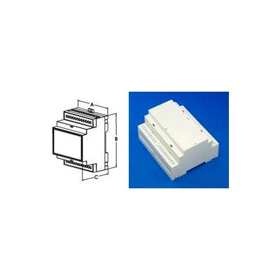 """Bud Dmb-4773 Din Rail Mount Multi-Board Box 4.18"""" L X 3.55"""" W X 2.26"""" H - Min Qty 12"""