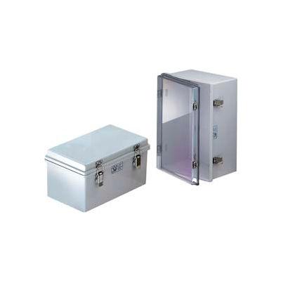 """Bud NBA-10172 UL/NEMA/IEC NBA Series Plastic Box With Clear Door 19.68"""" L x 15.75"""" W x 7.87"""" H"""
