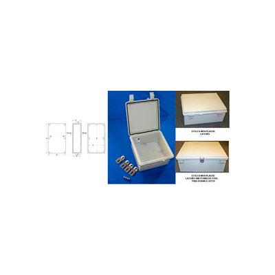 """Nbf-32322 Ul/Nema/Iec Nbf Series Style A Outdoor Bx w/Solid Door 13.78""""L x 9.84""""D x 5.9"""" H-Min Qty 2"""