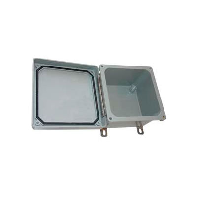 "Bud Nf-6612 Fiberglass Nema Bx SS Screw Type Lid Closure 9.9"" W X 6.8"" D X 11.78"" H-Min Qty 2"