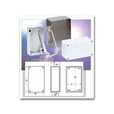 """Bud Pn-1333 Nema 4x - Pn Series Box 6.30"""" L X 3.15"""" W X 3.35"""" H Light Gray - Min Qty 6"""