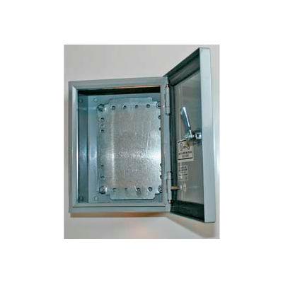 "Bud SNB-3739-SS SNB Series NEMA Sheet Metal Box 7.87"" W x 3.98"" D x 7.87"" H Stainless Steel"
