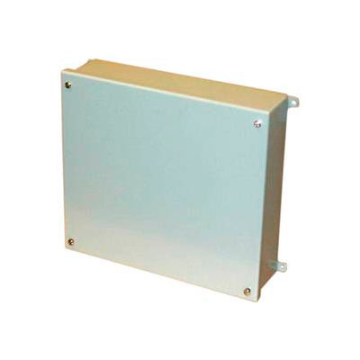 """Bud Snc-3751 Nema Sheet Metal Box With Lift-Off Screw Cover 9.84""""L X 5.91"""" D X 11.81"""" H - Min Qty 2"""