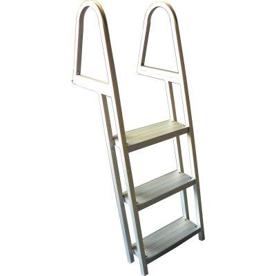 Bearcat 3 Step Aluminum Angled Boat Dock Ladder - L55