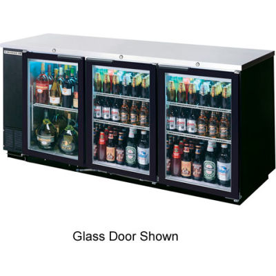 "Solid Door Back Bar Refrigerator 23"" Base BB Series, 72""W - BB72HC-1-B-27"