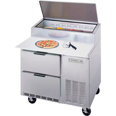 "Beverage Air® DPD46HC-2 Deli/Pizza Prep Tables W/ Drawers Dpd Series, 46""W"