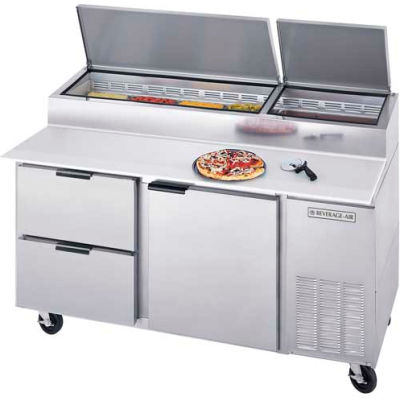 "Beverage Air® DPD67HC-2 Deli/Pizza Prep Tables W/ Drawers Dpd Series, 67""W"