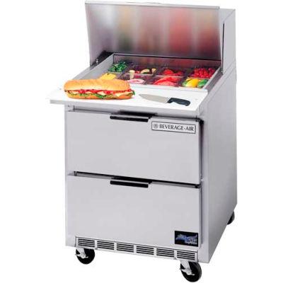 """Beverage-Air® SPED27HC- Food Prep Table, Elite Series, Standard Top, Drawers, 27""""W"""