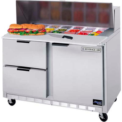 """Food Prep Tables SPED48 Elite Series Cutting Top w/ Drawers, 48""""W - SPED48HC-08C-2"""
