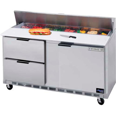 """Beverage Air® SPED60HC-10C-4 Food Prep Tables Sped60 Elite Series Cutting Top W/ Drawers, 60""""W"""