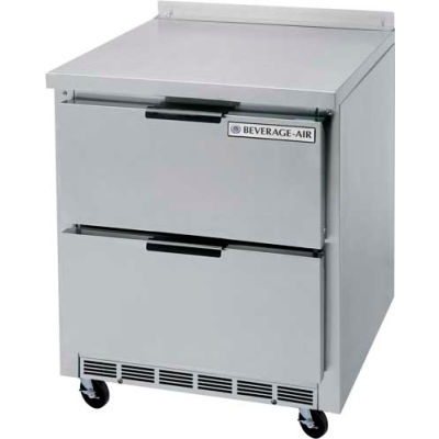"""Beverage Air® WTRD119AHC-6 Worktop Refrigerator 32"""" Base With 2/1 Drawers, 119""""W"""