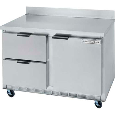 "Beverage Air® WTRD48AHC-2 Worktop Refrigerator W/ Drawers WTRD 29""D Series, 48""W"