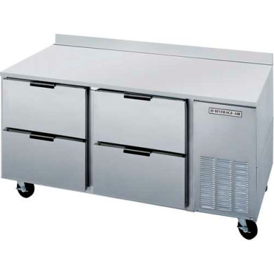 """Beverage Air® WTRD72AHC-2 Worktop Refrigerator With Drawers WTRD 29""""D Series, 72""""W"""