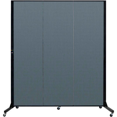 "Screenflex 3 Panel Light-Duty Portable Room Divider, 6'5""H x 5'9""L, Fabric Color: Lake"