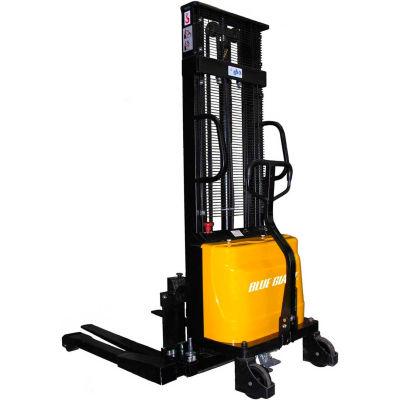 "Blue Giant® Manual Push Stacker 2200 Lb. Capacity - 98"" Lift 42"" Forks"