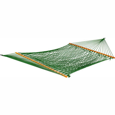 Bliss Classic Cotton Rope Outdoor Hammock, Green