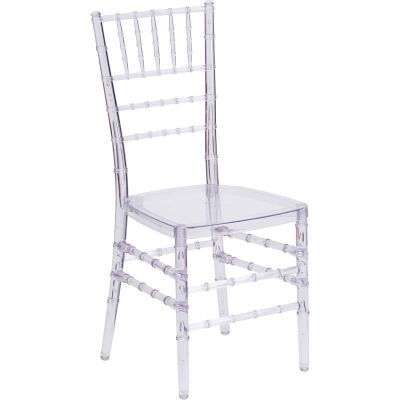Flash Furniture Stacking Elegance Chiavari Chair - Plastic - Crystal Ice Clear