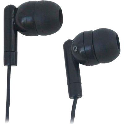 HamiltonBuhl Silicone Ear Bud Headphones, Black