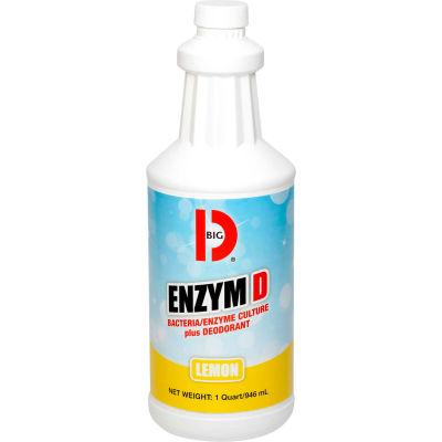 Big D Enzym D Bacteria/Enzyme Culture plus Deodorant, Quart Bottle, 12 Bottles - 500