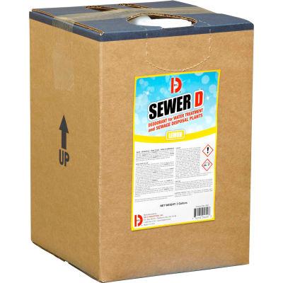 Big D Sewer D Deodorant for Water Treatment and Sewage Disposal Plants, Lemon, 5 Gallon Pail - 5600