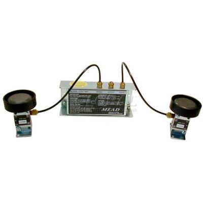 Bimba-Mead Two Hand Control CSV-107LS2, Remote Logic Unit W/Low Stress Foot Mount Valve