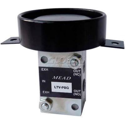 "Bimba-Mead Air Valve LTV-PBGP, 5 Port, 2 Pos, Manual, 1/8"" NPTF Port Vlv, Button Guard For Panel Mt"