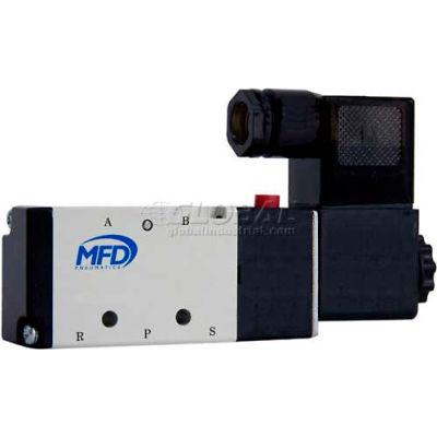 """Bimba-Mead Pilot Solenoid Valve M4V310-08-12VDC, 5 Port, 2 Pos, Single, 1/4"""" NPT, 12VDC, Cv=1.4"""