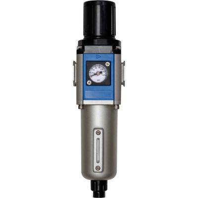 """Bimba-Mead, Filter/Regulator, MGFR300-10-D, 3/8"""" NPT Ports, Automatic Drain, Metal Bowl"""