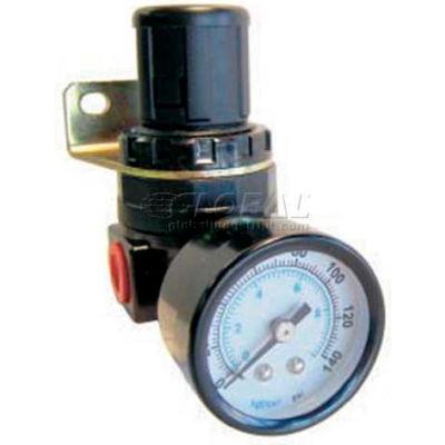 """Bimba-Mead Mini Regulator MSR200-08, Relieving / Press-To-Lock Adj Knob, 1/4"""" NPT"""