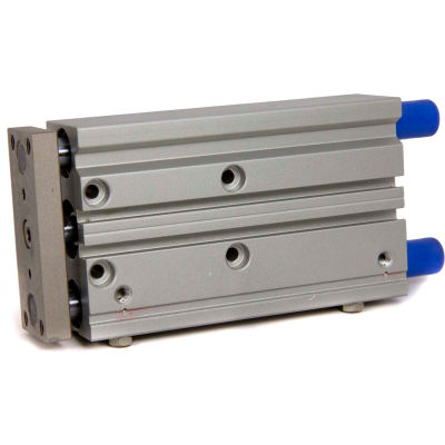 """Bimba-Mead Air Linear Guided Slide MTCL-50X250-S-T, Ball Bearing, 1/4"""" NPT, 50mm Bore, 250mm Stroke"""