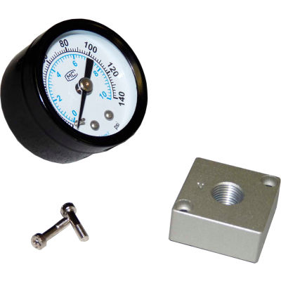 "Bimba-Mead, 40mm Round Pressure Gauge Kit, RGK-40,1/8"" NPT, W/ Adaptor Plate, 2 Screws"